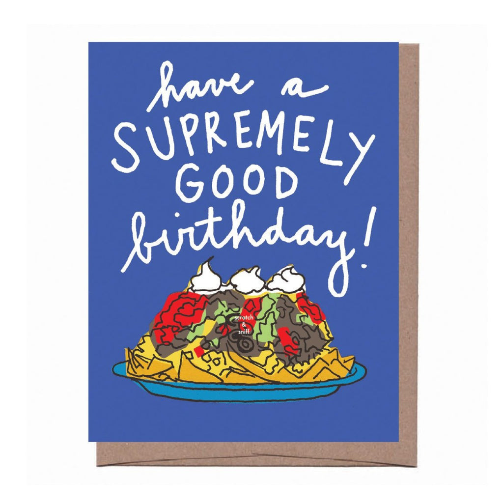 Scratch & Sniff Nachos Birthday Card