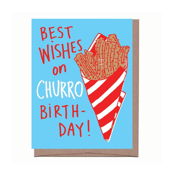 Scratch & Sniff Churro Birthday Card