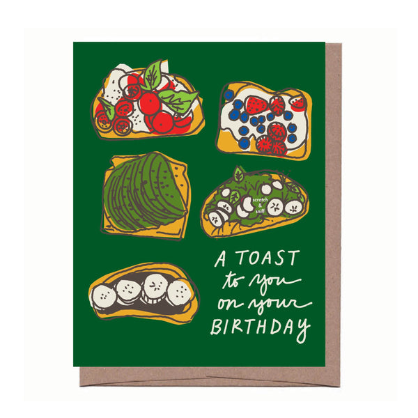 Scratch & Sniff Toast Birthday Card