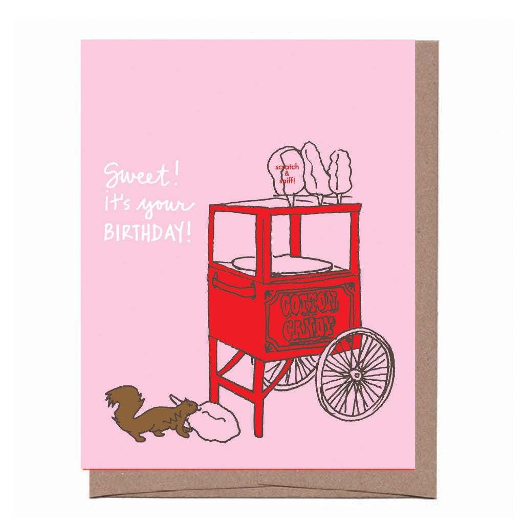 Scratch & Sniff Cotton Candy Birthday Card