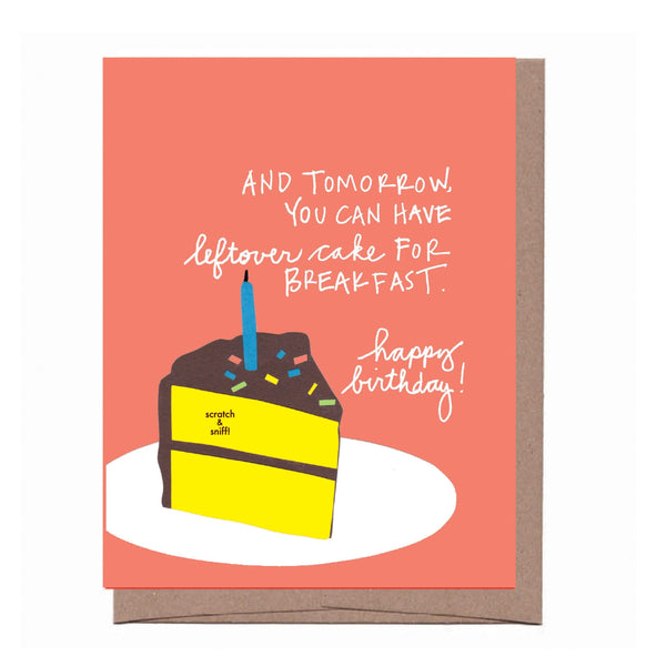 Scratch & Sniff Leftover Cake Birthday Card