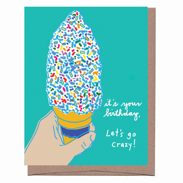 Scratch & Sniff Sprinkle Cone Birthday Card
