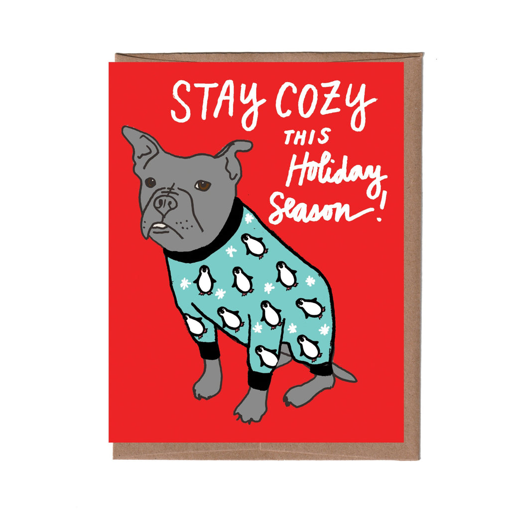 Dog Pajamas Holiday Card