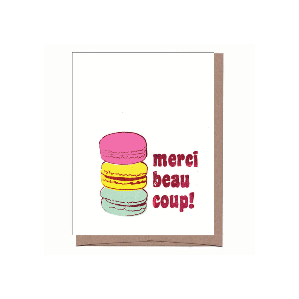 Merci Macarons Thank You Note