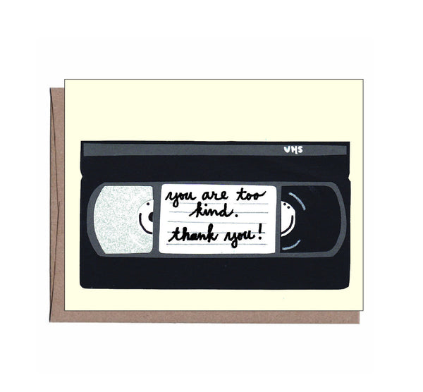 Be Kind VHS Thank You Note