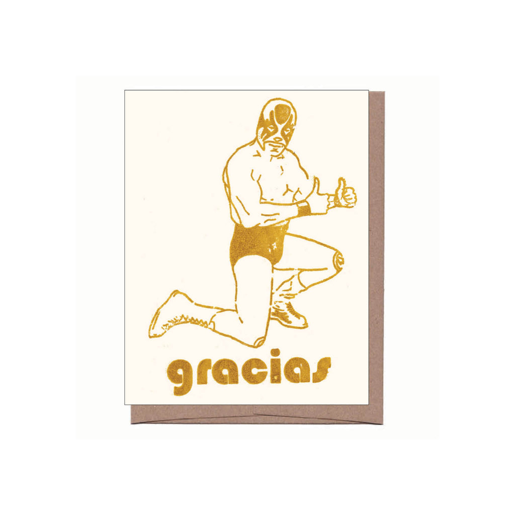 Gracias Luchador Thank You Note