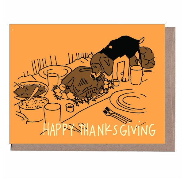 Naughty Dog Thanksgiving Card