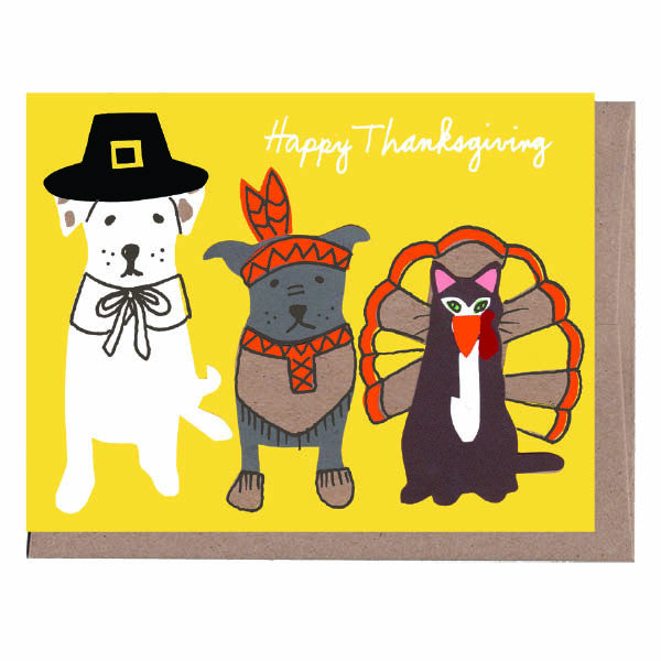 Pilgrim Pets Thanksgiving Card