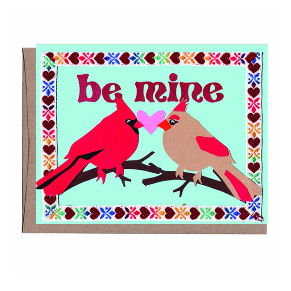 Be Mine Cardinals Valentine's Card