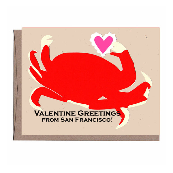 San Francisco Crab Valentine's Card