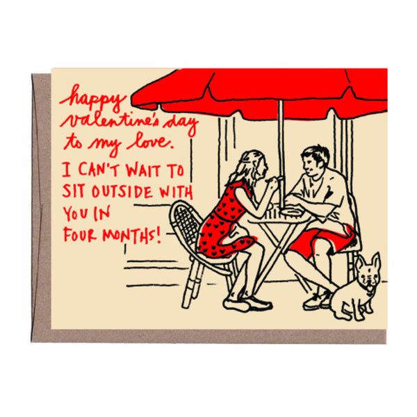 Sidewalk Cafe Valentine's Card