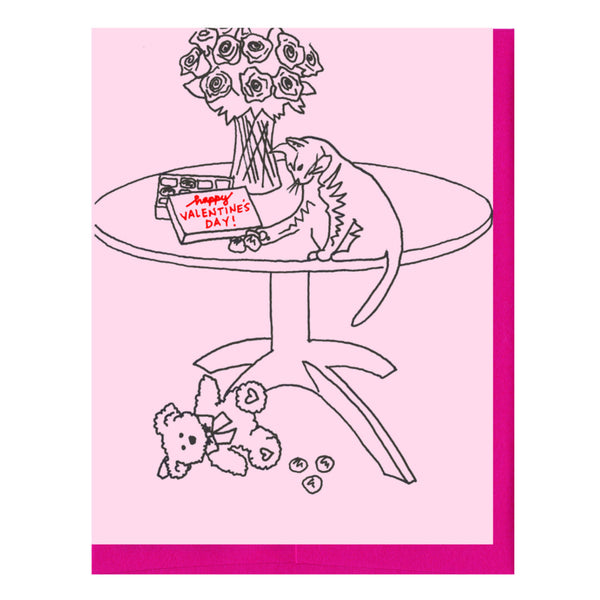 Rude Cat Valentine's Card