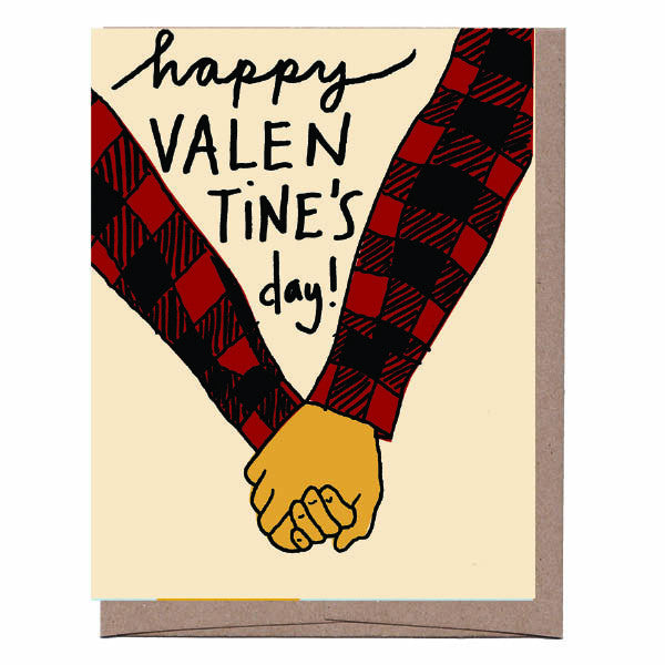 Buffalo Plaid Valentine's Card
