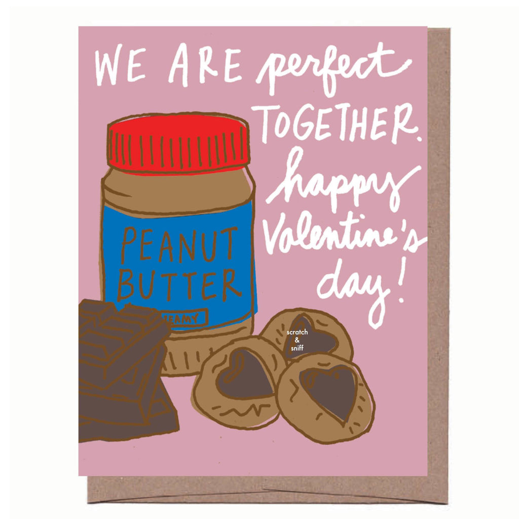 Scratch & Sniff Peanut Butter and Chocolate Valentine Card