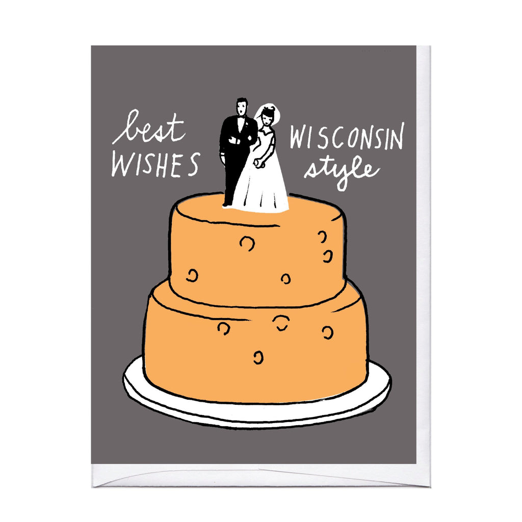 Wisconsin Cheese Wedding Cake Card