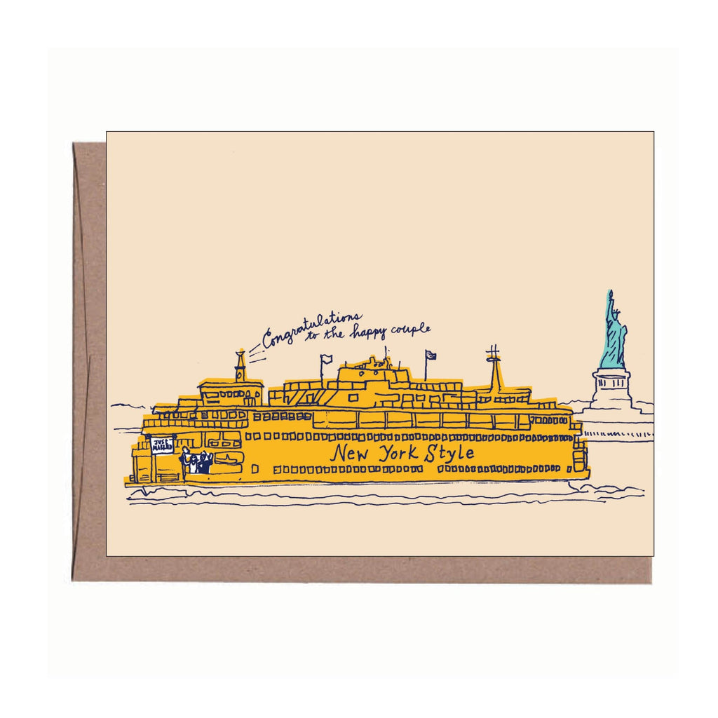 NYC Ferry Wedding Card