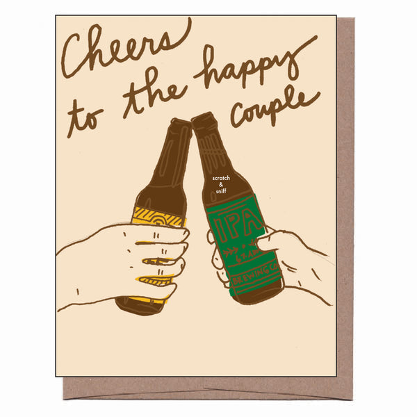 Scratch & Sniff Beer Cheers Wedding Card