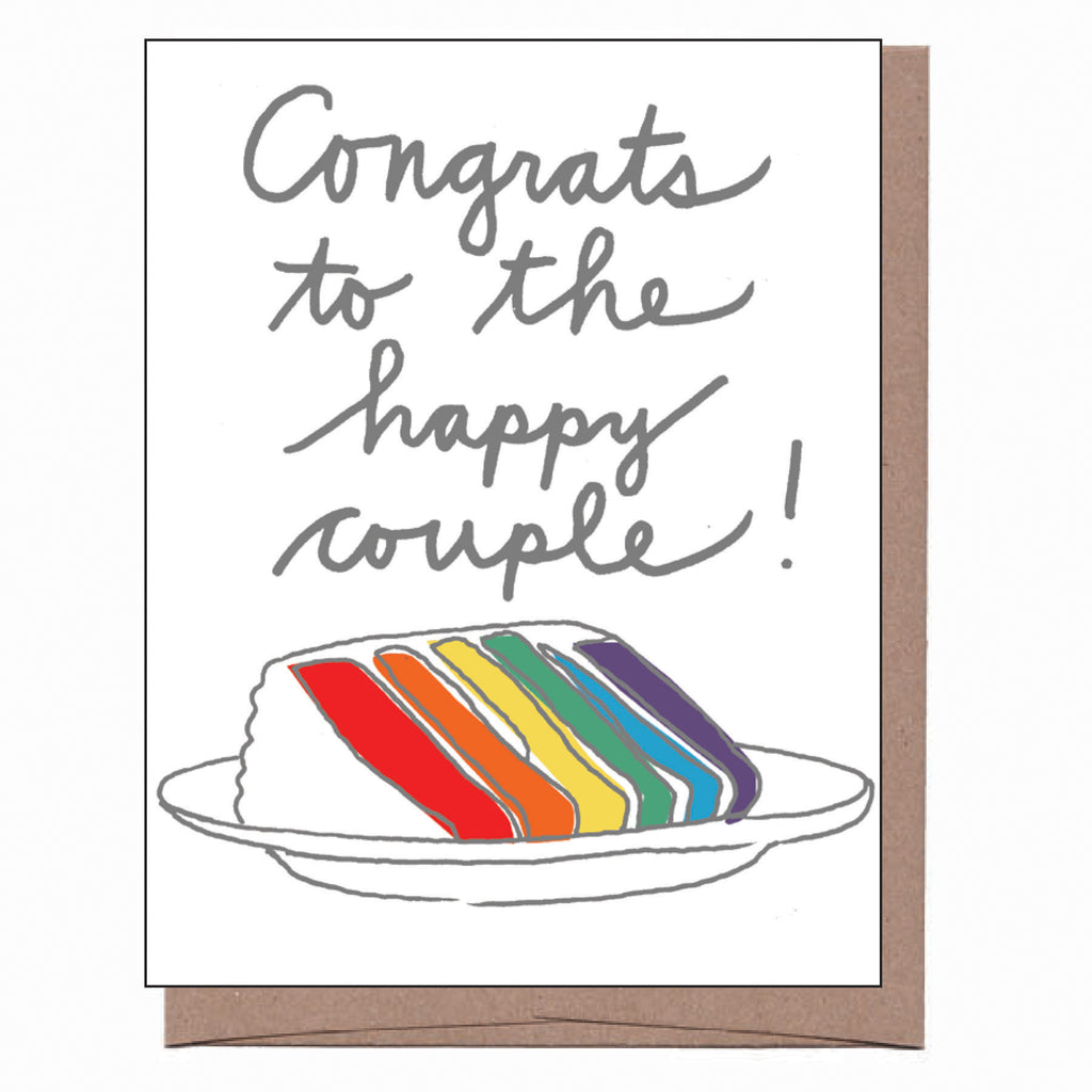 Rainbow Cake Wedding Card