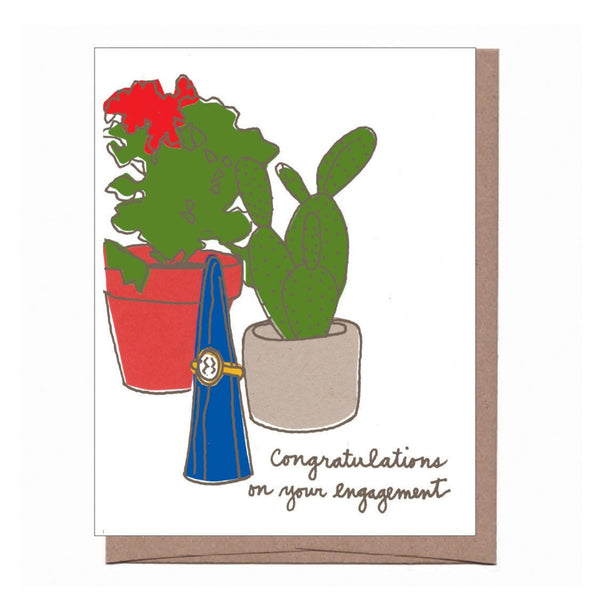 Cactus Engagement Card