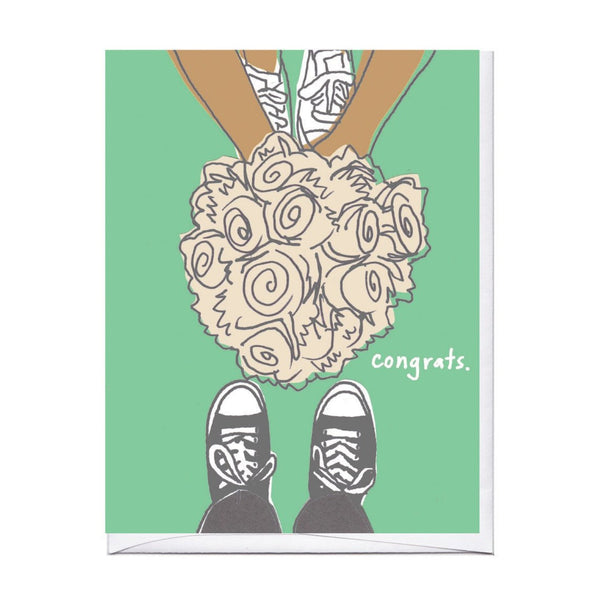 Sneaker Bouquet Wedding Card
