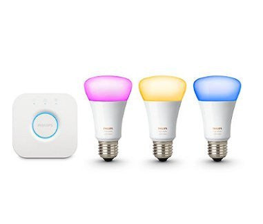 Philips White and Color Ambiance A19 Starter Kit, 3rd Generation + Installation