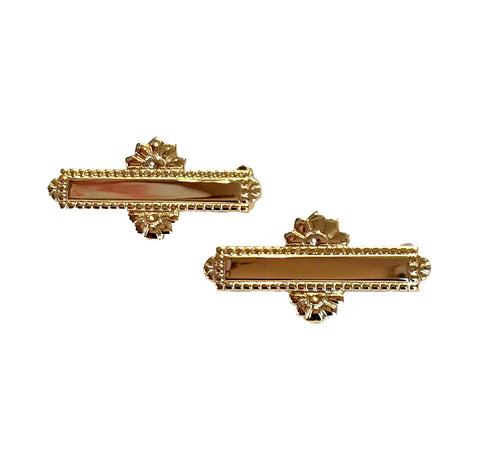 14 Karat Gold Engraved Beauty Pins