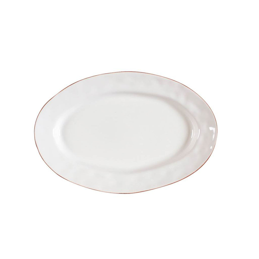 Cantaria White Small Oval Platter