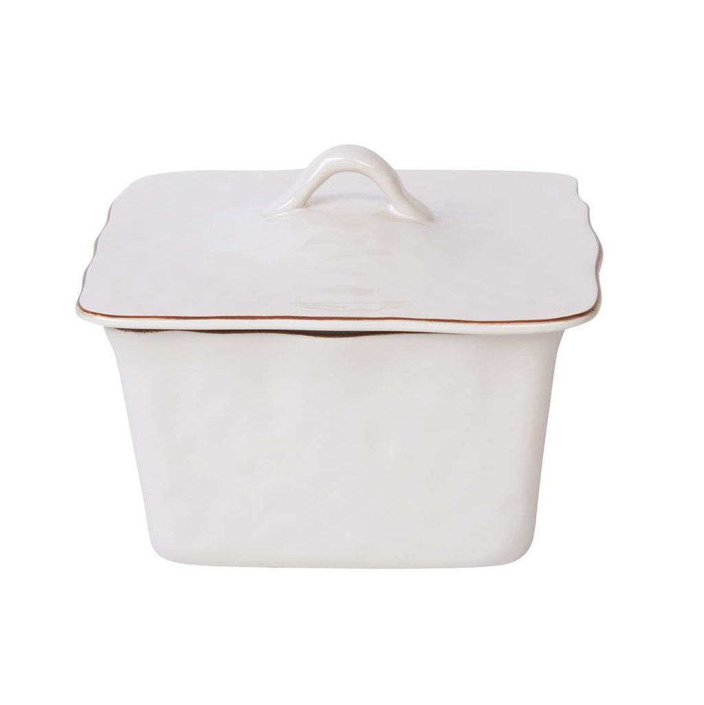 Cantaria White Square Covered Casserole