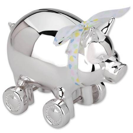 Pig With Wheels Bank