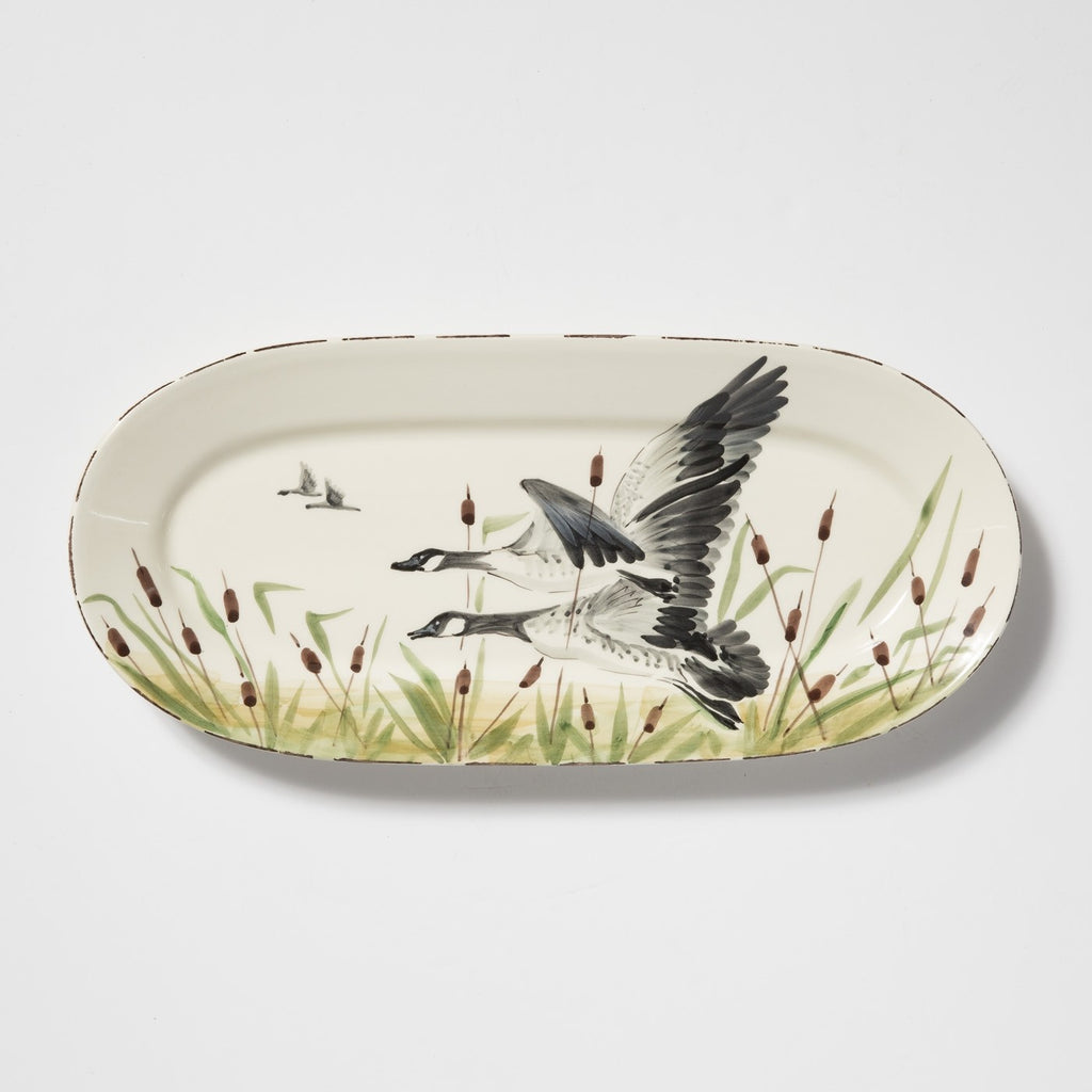 Wildlife Geese Small Oval Platter