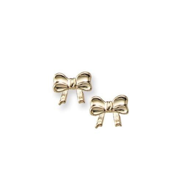 Child's 14 Karat Bow Earrings