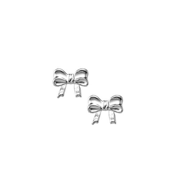 Child's Sterling Silver Bow Earrings