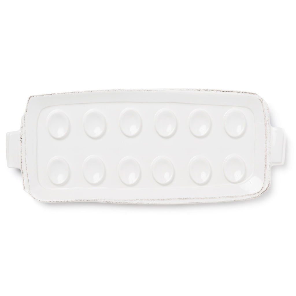 Lastra White Egg Tray