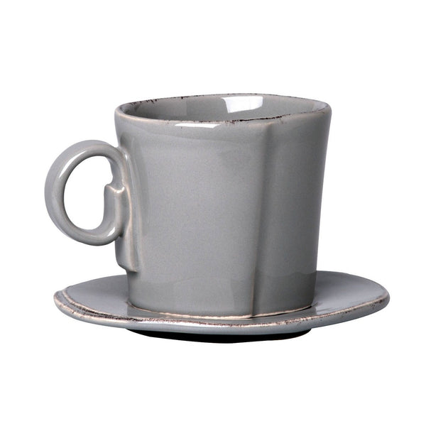 Lastra Grey Espresso Cup and Saucer