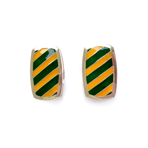 Southern Gentleman Green and Gold Cuff Link