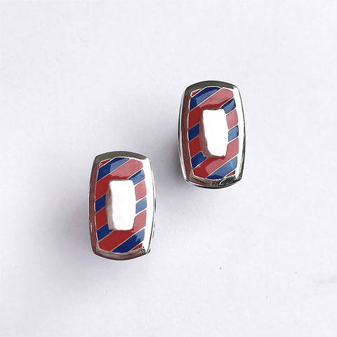 Southern Gentleman Red and Blue Engravable Cuff Link