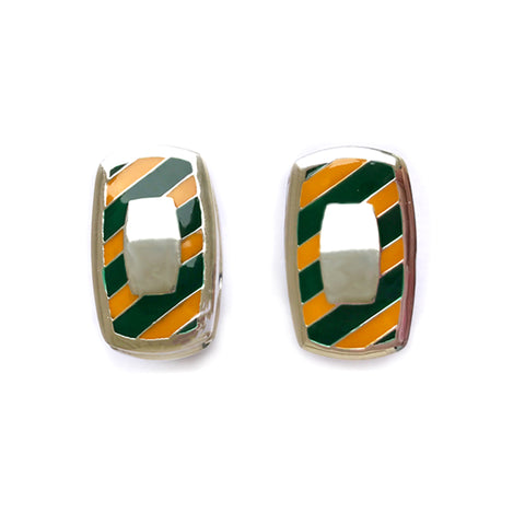 Southern Gentleman Green and Gold Engravable Cuff Link