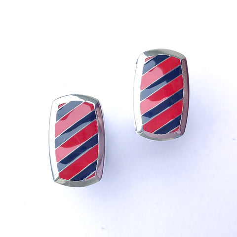 Southern Gentleman Red and Blue Cuff Link