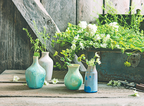Simon Pearce Pure Ceramic Vase Collection