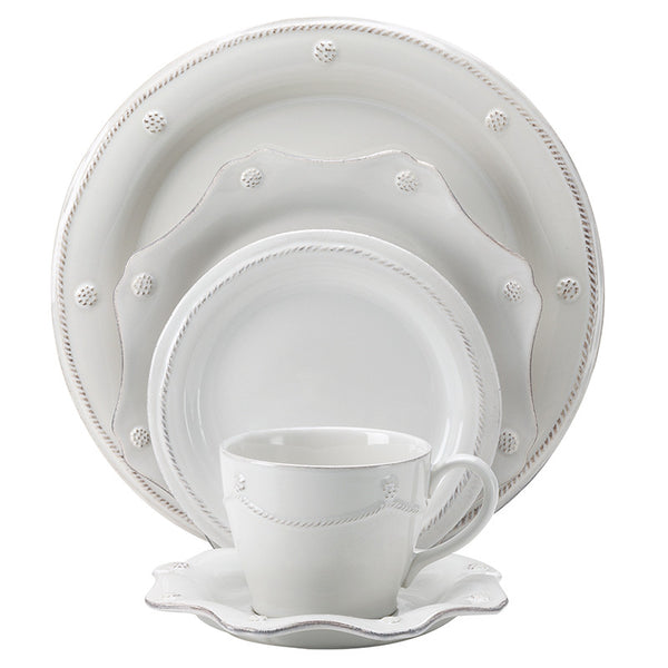 Berry & Thread Whitewash 5 Piece Place Setting
