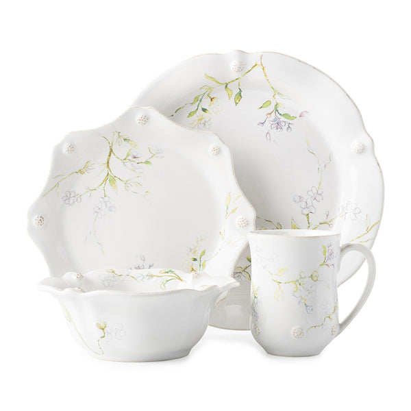 Berry & Thread Floral Sketch Jasmine 4 Piece Place Setting