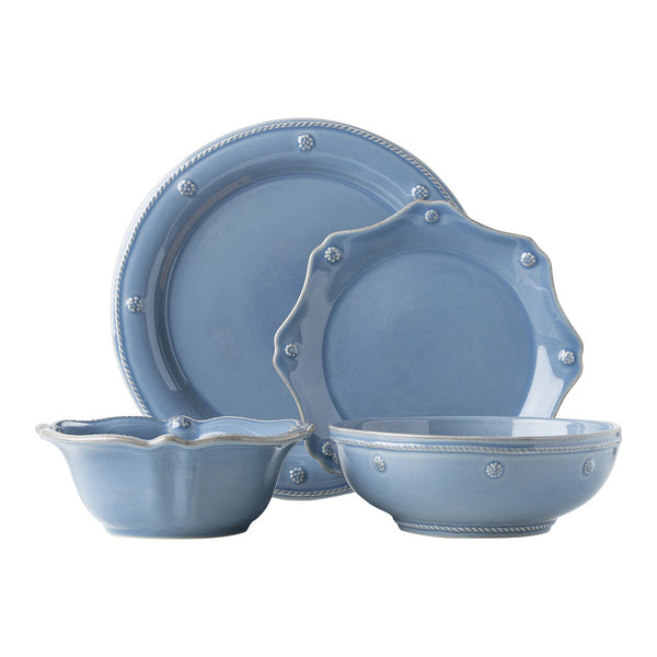 Berry & Thread Chambray Dinnerware 4 Piece Place Setting