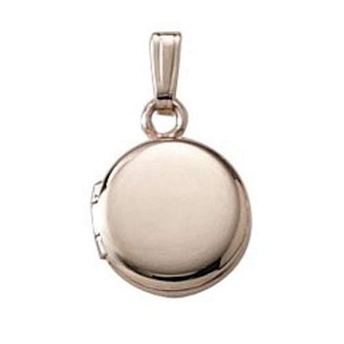 Gold Filled Infant Locket with Chain