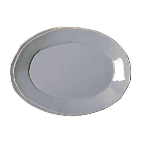 Lastra Grey Small Oval Platter