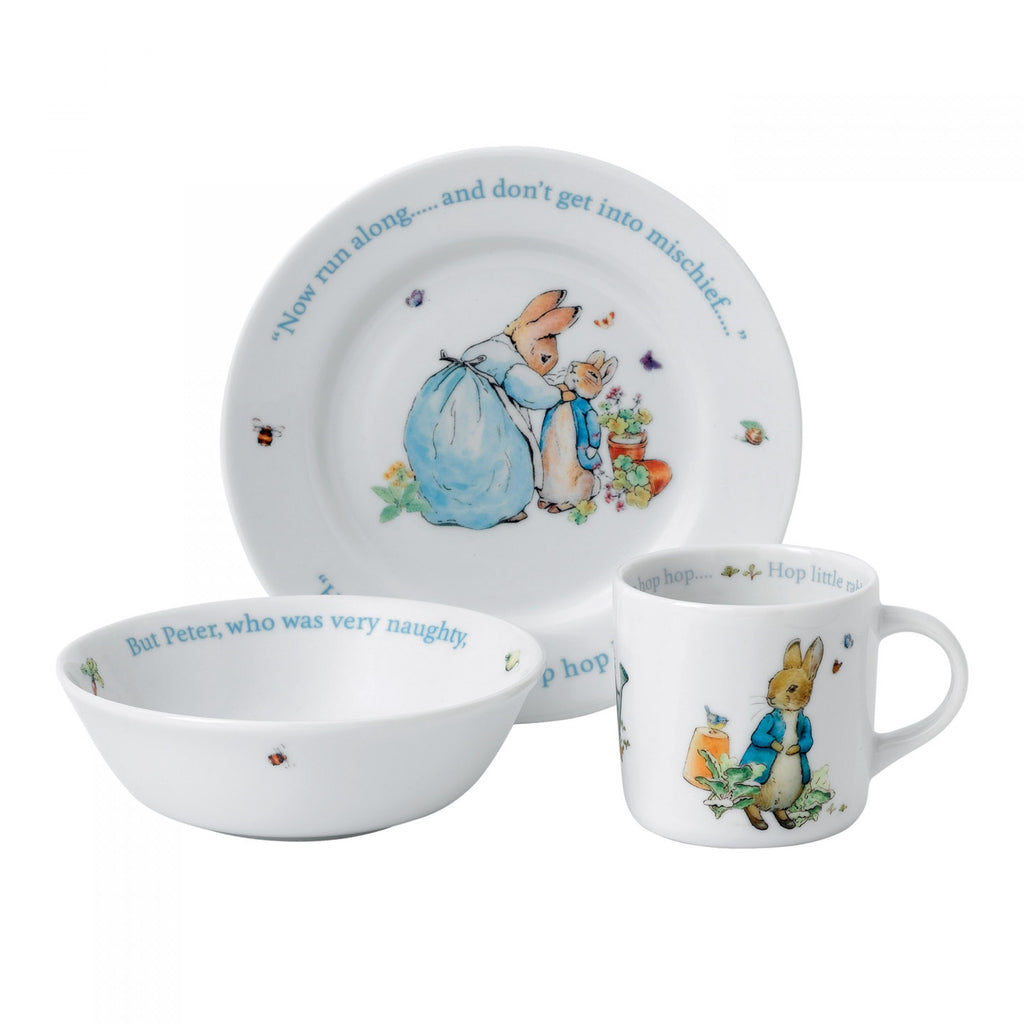 Wedgwood Blue Peter Rabbit 3-Piece Set