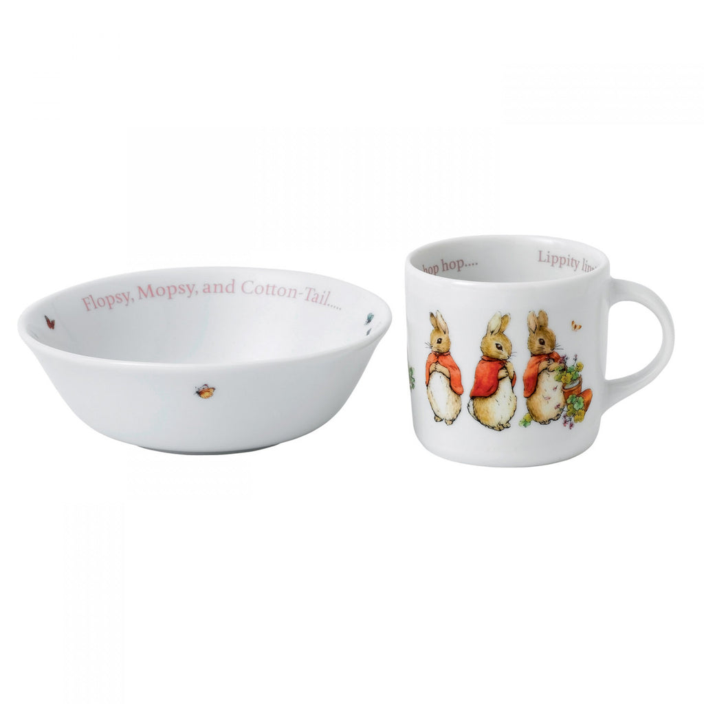 Wedgwood Pink Peter Rabbit 2-Piece Set