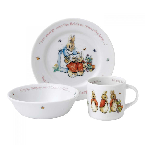Wedgwood Pink Peter Rabbit 3-piece Set