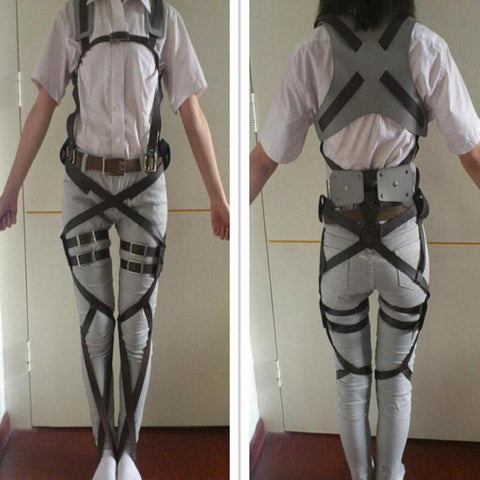 Attack On Titan Cosplay Shingeki No Kyojin Cosplay Recon Corps Harness Belts Hookshot -  - SenpaiWares