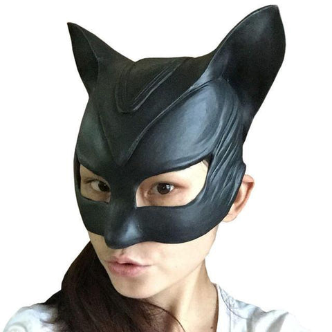 Catwoman Rubber Latex Party Mask - Cosplay / Costume Prop -  - SenpaiWares