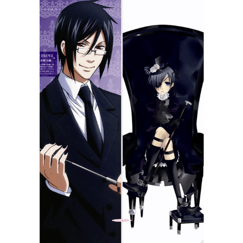 New Black Butler Anime Dakimakura Japanese Pillow Cover BB1 Male - Dakimakura - SenpaiWares